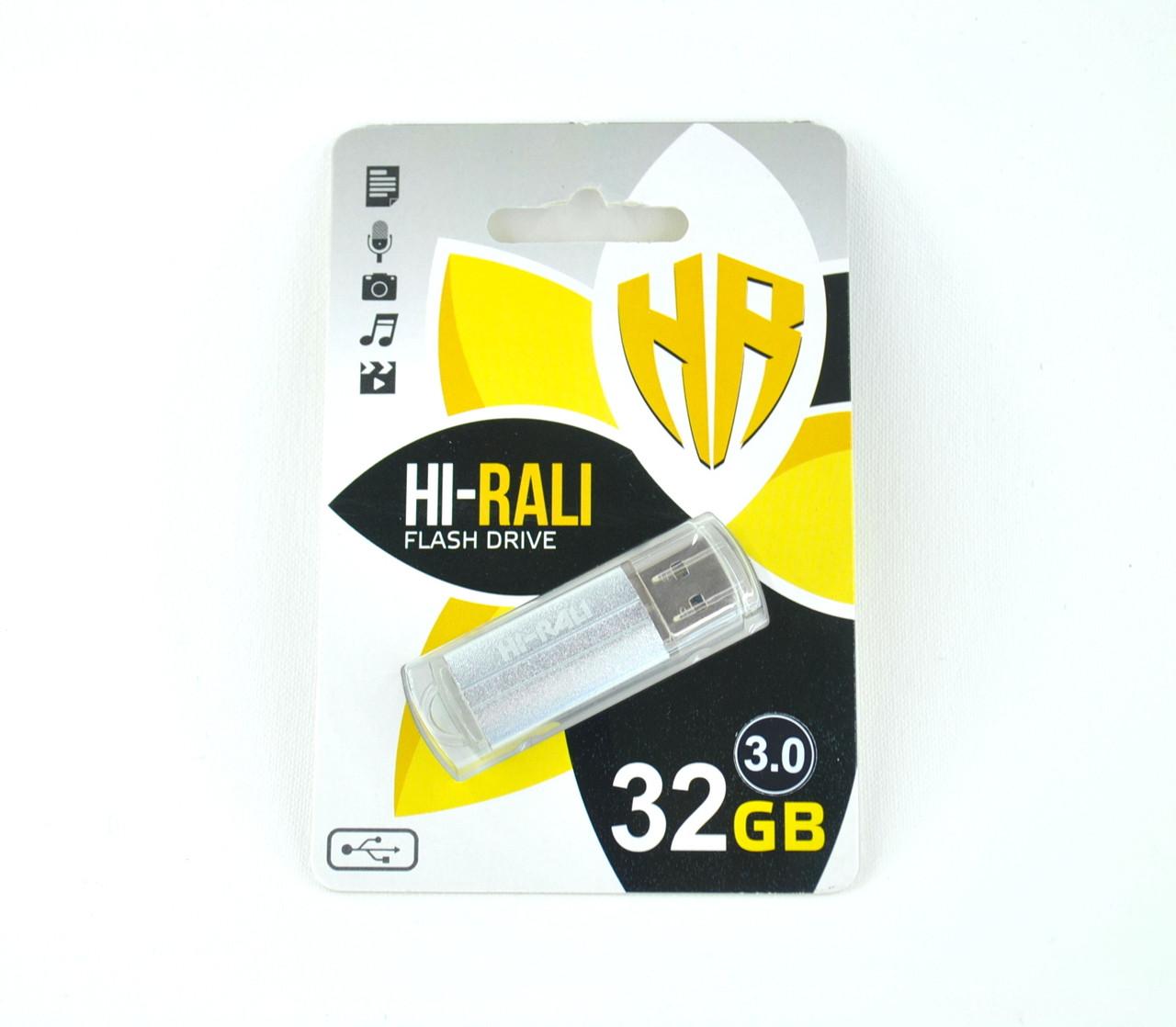 Флеш-накопитель Usb 3.0 32Gb Hi-Rali Corsair series Silver