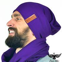 Шапка фиолетовая, фото 1