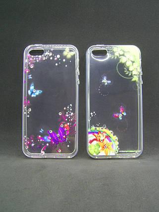 Чехол Xiaomi Redmi Note 4X Silicon Fashion Diamond бабочки, фото 2