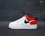 Мужские кроссовки Nike Air Force 1 Low NBA (красно/белые) KS 1397, фото 2