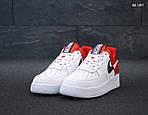 Мужские кроссовки Nike Air Force 1 Low NBA (красно/белые) KS 1397, фото 3