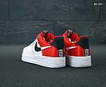 Мужские кроссовки Nike Air Force 1 Low NBA (красно/белые) KS 1397, фото 4