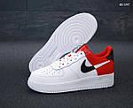 Мужские кроссовки Nike Air Force 1 Low NBA (красно/белые) KS 1397, фото 5