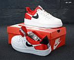 Мужские кроссовки Nike Air Force 1 Low NBA (красно/белые) KS 1397, фото 6