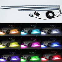 LED RGB разноцветная светодиодная моргающая подсветка днища авто на пульте
