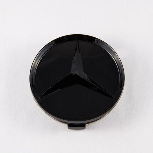 Колпачок для диска    Mercedes-Benz стар. обр. черный мат (75 мм)