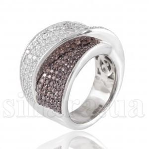 Эксклюзивное серебряное кольцо 27300
