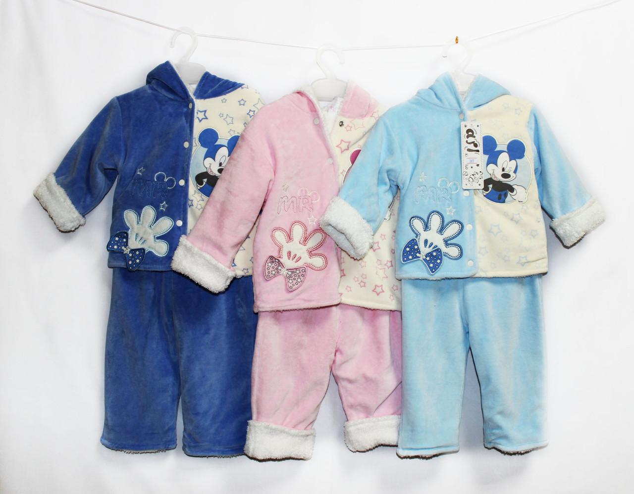 Костюм детский теплый велюровый для мальчика и девочки. Ari 387
