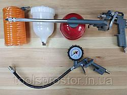 Набор для компрессора EURO CRAFT ECATK5 : Краскопульт | Распылитель | Продувочный | Пистолет-насос для шин