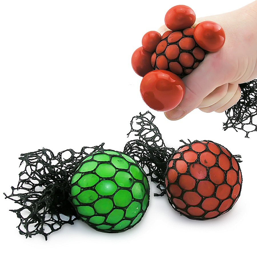 Лизун Мозги из сетки большой Mesh squish ball