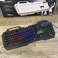 Игровая клавиатура с подсветкой UKC KW-900 LED геймерская keyboard