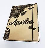 Папка-короб на резинке, А4, 80 мм, КРАФТ, фото 6