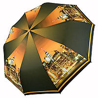 Женский складной автоматический зонтик c принтом ночного города от Flagman, коричневый, 510-4, фото 1
