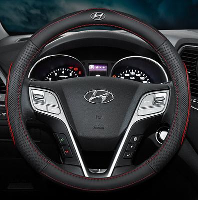 Чехол оплетка Cool на руль для автомобиля Hyundai натуральная кожа