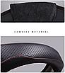 Чохол обшивка Cool на кермо для автомобіля Mazda натуральна шкіра, фото 3