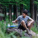 Столик туристичний складаний 350х250мм NatureHike NH17Z001-L Синій., фото 9