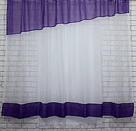 Кухонный комплект. Цвет фиолетовый с белым. 047к