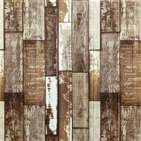 3Д панели декоративные самоклеющиеся для стен Коричневое дерево