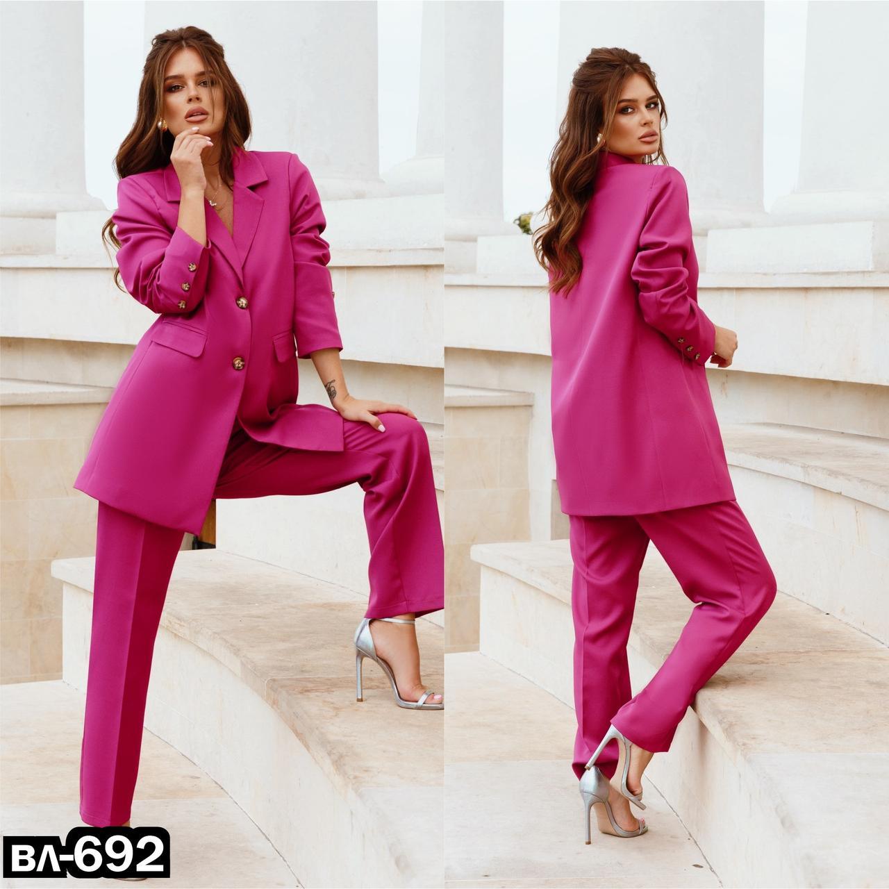Стильный качественный женский брючный костюм 3 цвета С, М +большой размер