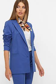 Женский яркий синий пиджак из костюмной ткани Размеры S M LXL
