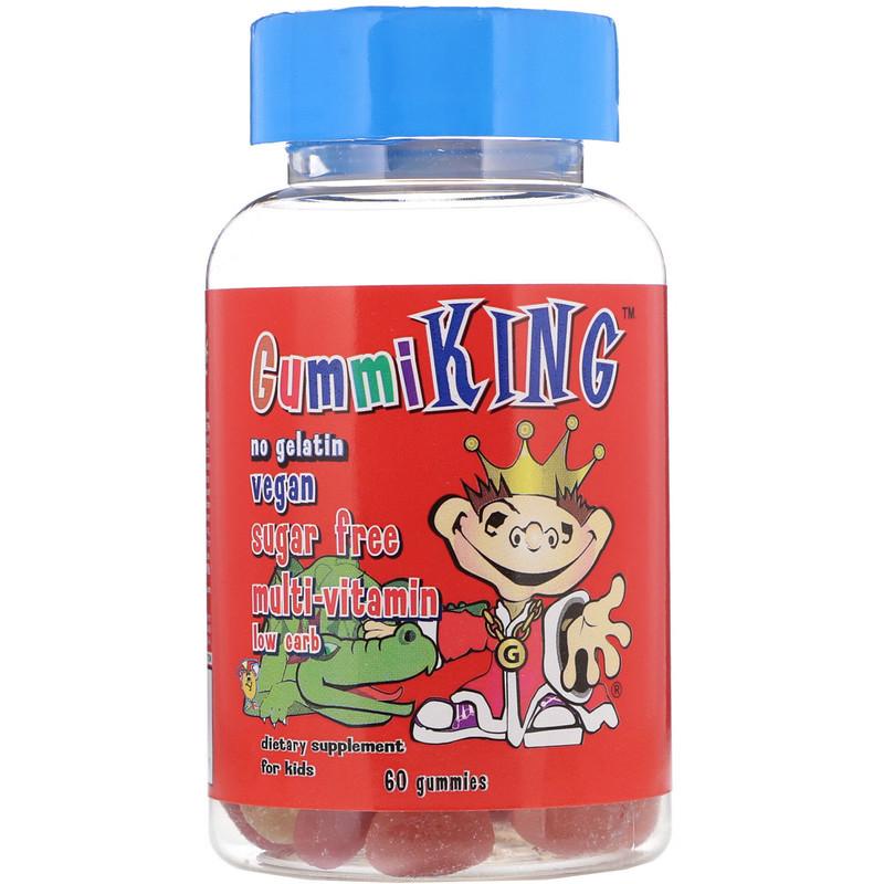 GummiKing Sugar-Free Multi-Vitamin, For Kids, 60 Gummies