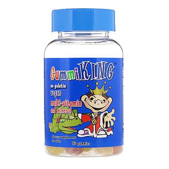 GummiKing Multi-Vitamin & Mineral, For Kids, 60 Gummies