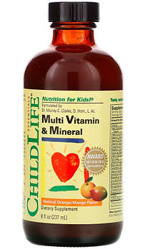 Childlife Vitamin and Mineral Natural Orange Mango (237 ml.)