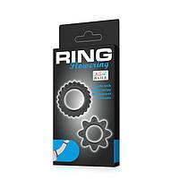 Ерекційні кільця - Ring Flowering Black, 2 шт., фото 5