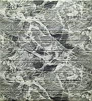 3Д панель декоративна самоклеюча для стін під цеглу Мармур Чорний