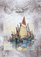 """Блокнот АРКУШ PRESTIGE А5, 96 листов, клетка, твердая обложка, """"Grand Canal"""", 1В161"""