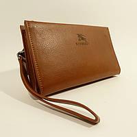 Клатч кожаный мужской светло-коричневый 1222