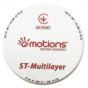 Циркониевый диск ST-M Ø 98мм, многослойный (Multilayered) для CAD/CAM систем, Emotions (Украина Э