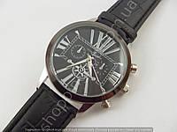 Часы Ulysse Nardin K20132 мужские серебристые на черном ремешке