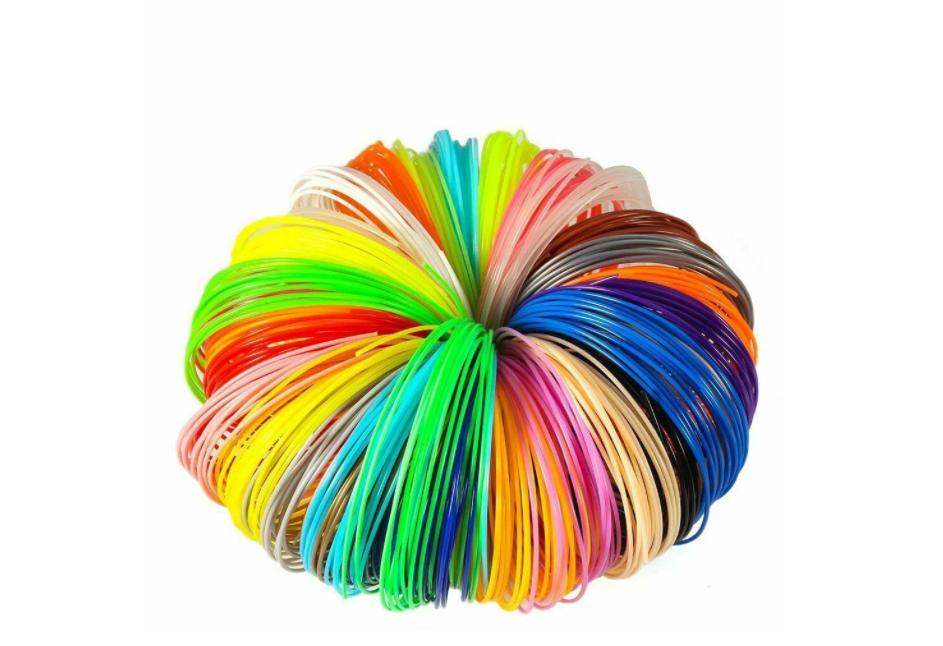 Набір PLA пластику для 3Д ручки 5 кольорів по 10 м