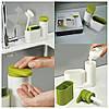 Диспенсер-органайзер для жидкого мыла с дозатором Joseph Joseph Sink Base Plus. Дозатор для мыла, фото 6