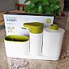 Диспенсер-органайзер для жидкого мыла с дозатором Joseph Joseph Sink Base Plus. Дозатор для мыла, фото 2