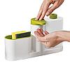 Диспенсер-органайзер для жидкого мыла с дозатором Joseph Joseph Sink Base Plus. Дозатор для мыла, фото 3