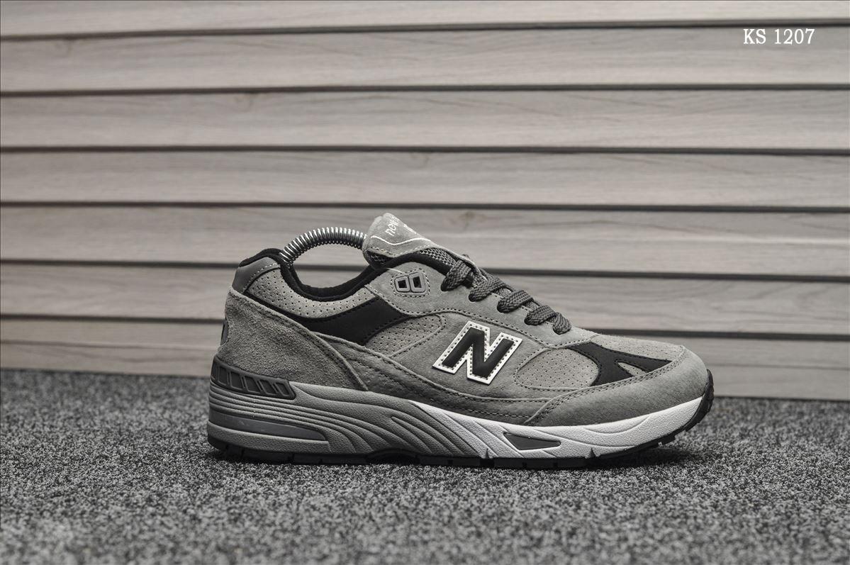 Мужские кроссовки New Balance 991 (серые) KS 1207