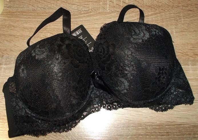 Бюстгальтер с кружевом черный 9036 размер 85С