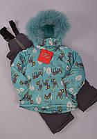 Зимний термо костюм на девочку 74-98р Польша