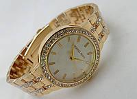 Годинники жіночі в стилі Michael Kors - logo колір золото, фото 1