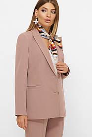 Женский элегантный пиджак из костюмной ткани пастельного цвета Размеры S M LXL