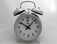 Механические часы PERFECT с будильником серые