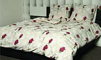 Полуторное постельное белье Gold с бутонами роз