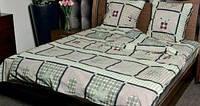 Полуторное постельное белье GOLD кубиками