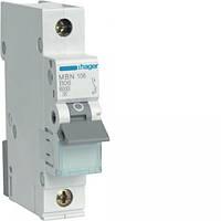 Автоматический выключатель MBN110E 1Р 10А B Hager