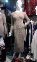 Длинное вязаное теплое платье в Одессе