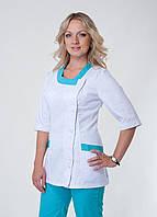 """Распродажа Медицинский костюм женский 48 размер """"Health Life"""" коттон 3216"""