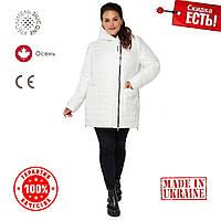 Женская Куртка демисезонная 54-68 прямой силуэт Белый