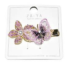 "Зажим для волос ""бабочка+цветок"""